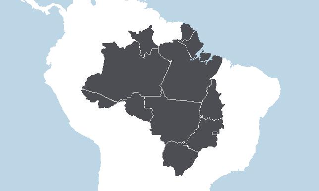 Keskiläntinen ja pohjoinen Brasilia